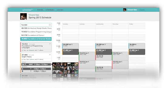 Schedule-screen